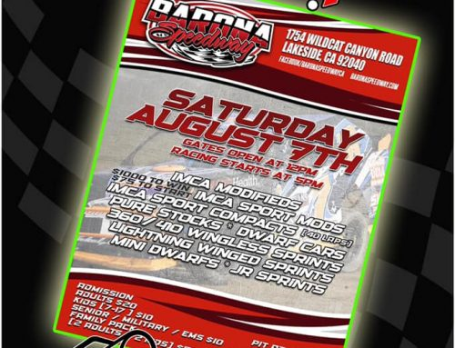 Barona Speedway Streaming Live for 8-7-2021