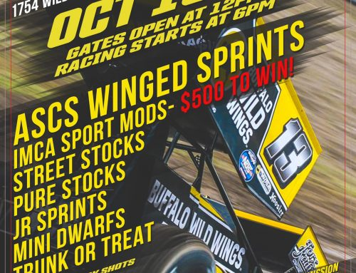 ASCS SPRINT CARS IN THE HOUSE 10/16 TRUNK OR TREAT